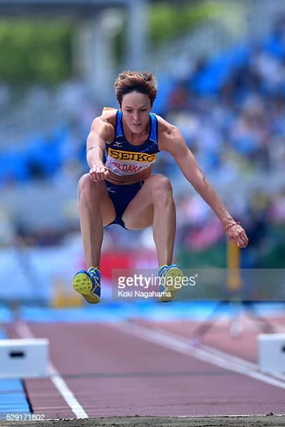 Dana Veldakova of Slovakia competes in the Women's Triple Jump during the SEIKO Golden Grand Prix 2016 at Todoroki Stadium on May 8, 2016 in...