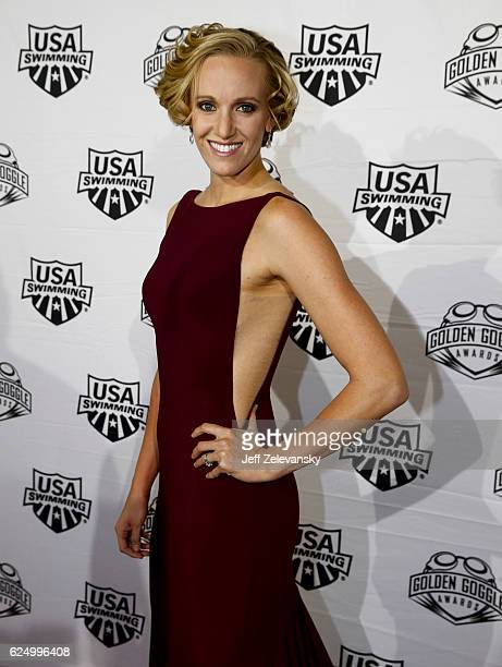 Dana Vollmer arrives to the 2016 Golden Goggles Awards at the Marriott Marquis Hotel on November 21 2016 in New York City