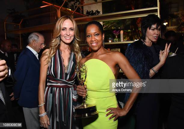 Dana Walden and Regina King attend FOX Broadcasting Company FX National Geographic and 20th Century Fox Television 2018 Emmy Nominee Party at Vibiana...