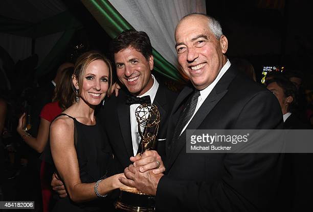 Dana Walden Chairman and CEO of Fox Television Group Producer Steven Levitan and Gary Newman Chairman and CEO of Fox Television Group attend the FOX...