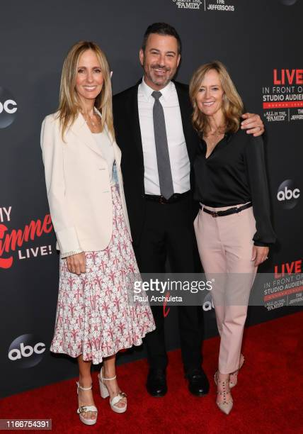 Dana Walden Jimmy Kimmel and Karey Burke attends an 'Evening With Jimmy Kimmel' at the Hollywood Roosevelt Hotel on August 07 2019 in Hollywood...