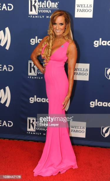 Dana Warrior arrives at the 2018 GLAAD Gala San Francisco at Hyatt Regency San Francisco on September 15 2018 in San Francisco California