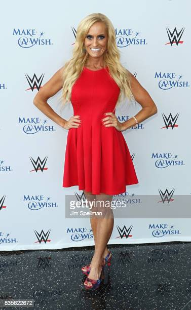 Dana Warrior attends the WWE Superstars Surprise MakeAWish Families at One World Observatory on August 19 2017 in New York City
