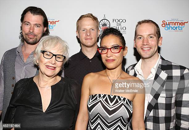 Dana Watkins Brenda Currin Andrew Glaszek Tasha Guevara and David Beck from 'Doubtless' attend the Summer Shorts 2014 Opening Party at Bar Fogo at...