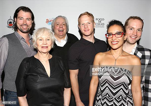Dana Watkins Brenda Currin playwright Albert Innaurato Andrew Glaszek Tasha Guevara and David Beck from 'Doubtless' attend the Summer Shorts 2014...