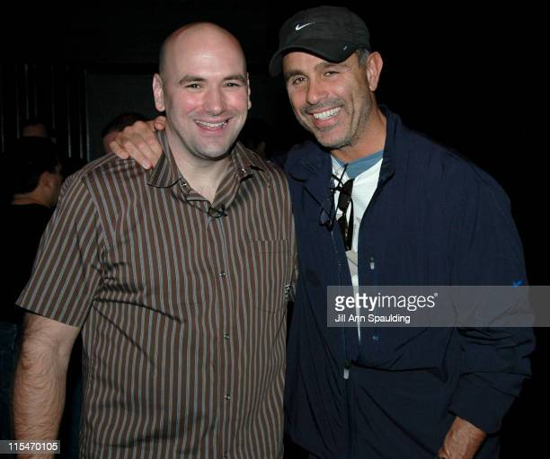 Dana White and Craig Piligian during The Ultimate Fighter WeighIn November 4 2005 at Hard Rock Hotel in Las Vegas Nevada United States