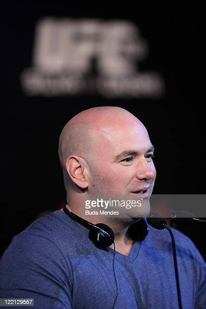 Dana White at the UFC Rio PreFight Press Conference at Copacabana Palace on August 25 2011 in Rio de Janeiro Brazil