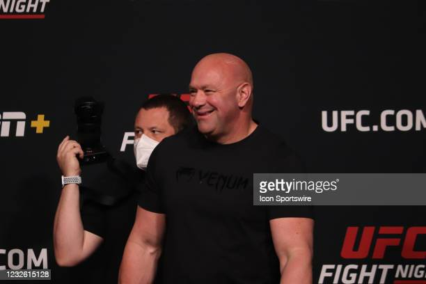 Dana White during the UFC Fight Night: Reyes v Prochazka Weigh-in at UFC Apex on April 30 in Las Vegas, Nevada.