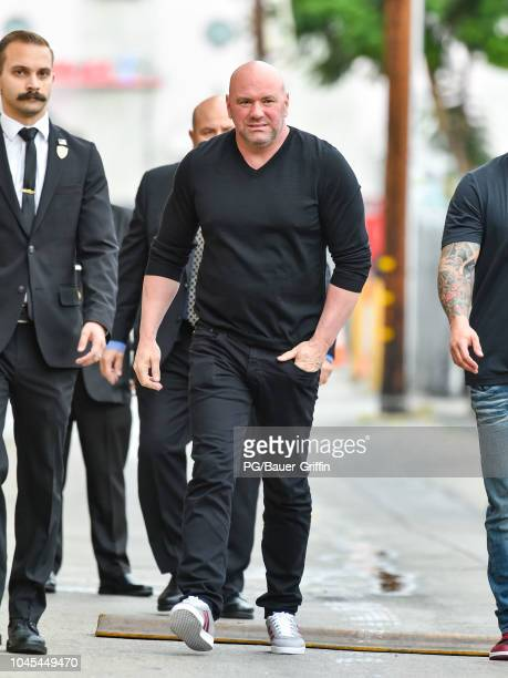 Dana White is seen arriving at 'Jimmy Kimmel Live' on October 03, 2018 in Los Angeles, California.