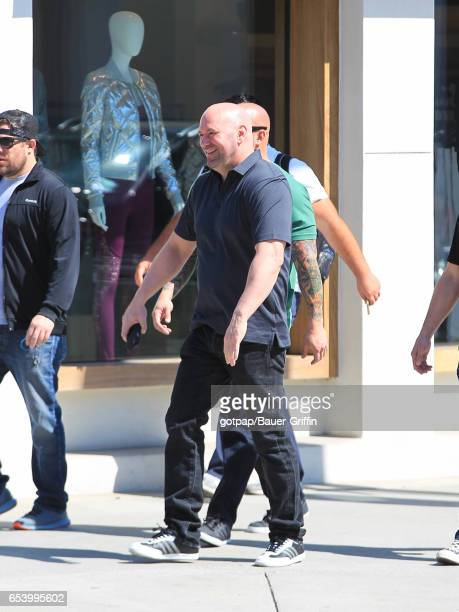 Dana White is seen on March 15 2017 in Los Angeles California
