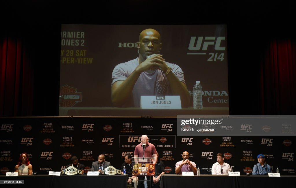 UFC 214- Press Conference : News Photo