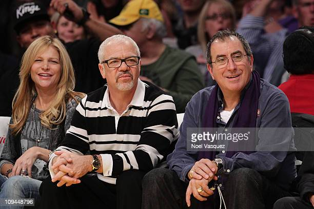 Dana York Sam Gores and Kenny Ortega attend a game between the Los Angeles Clippers and the Los Angeles Lakers at Staples Center on February 25 2011...