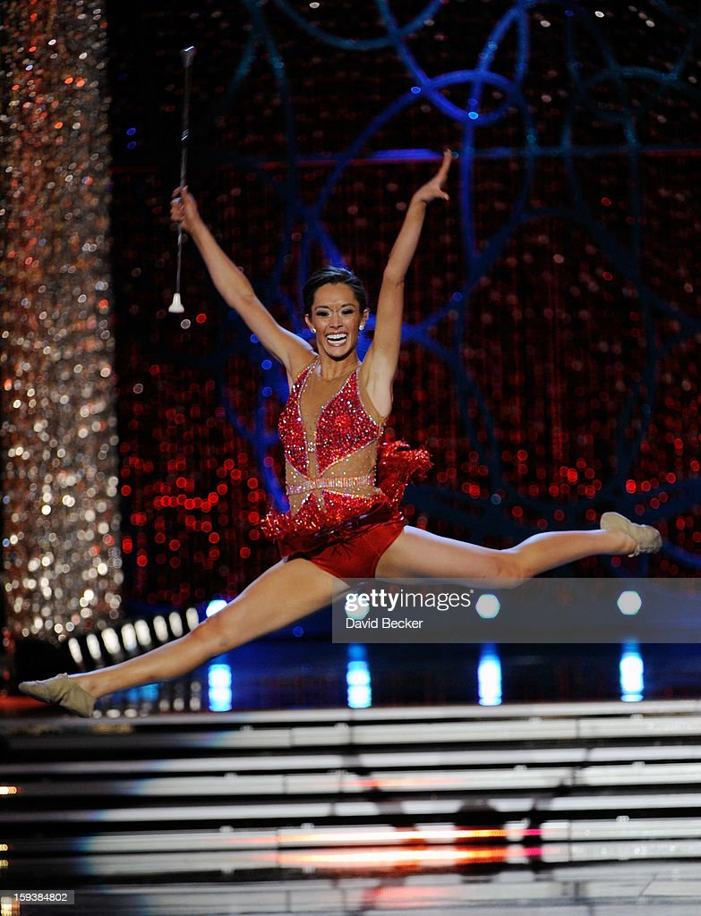 DaNae Couch, Miss Texas, competes in the talent competition during the 2013 Miss America Pageant at PH Live at Planet Hollywood Resort & Casino on January 12, 2013 in Las Vegas, Nevada.
