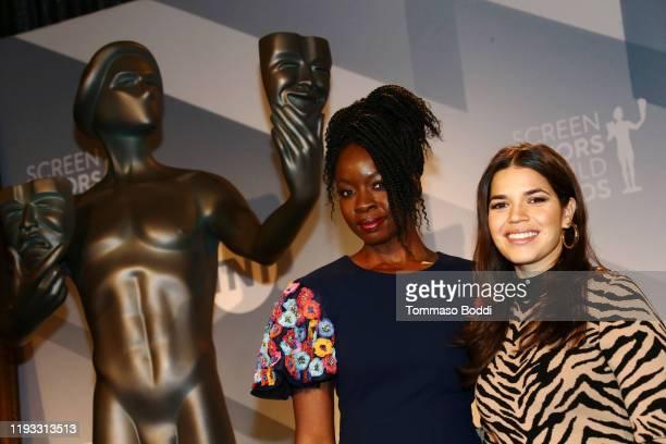 Danai Gurira and America Ferrera attend the 26th Annual Screen Actors Guild Awards Nominations Announcement at Pacific Design Center on December 11,...