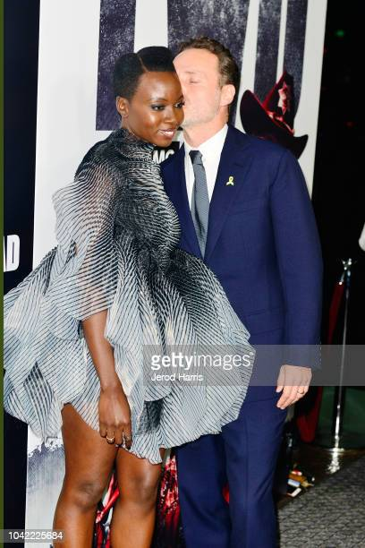 Danai Gurira and Andrew Lincoln arrive at the Premiere Of AMC's 'The Walking Dead' Season 9 at the DGA Theater on September 27 2018 in Los Angeles...