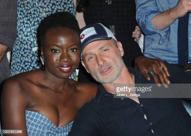 Danai Gurira and Andrew Lincoln attend AMC's 'The Walking Dead' panel during ComicCon International 2018 at San Diego Convention Center on July 20...