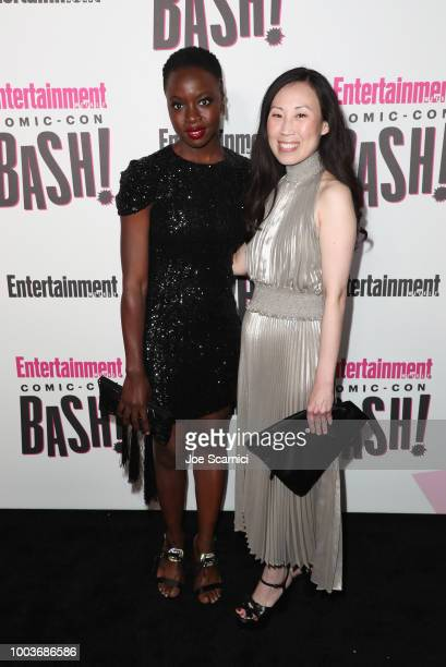 Danai Gurira and Angela Kang attend Entertainment Weekly's ComicCon Bash held at FLOAT Hard Rock Hotel San Diego on July 21 2018 in San Diego...