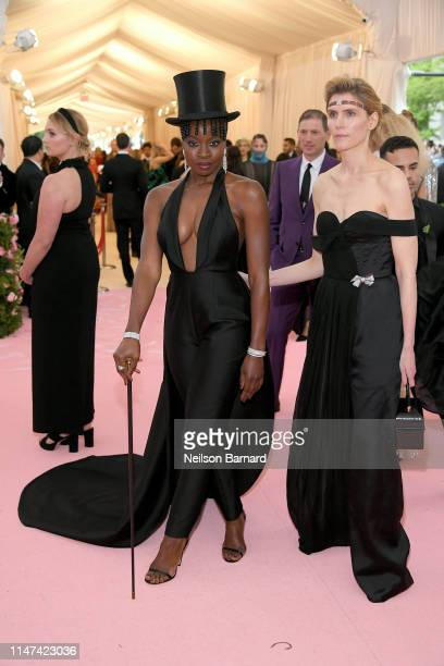 Danai Gurira and Gabriela Hearst attend The 2019 Met Gala Celebrating Camp: Notes on Fashion at Metropolitan Museum of Art on May 06, 2019 in New...