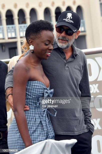 Danai Gurira and Jeffrey Dean Morgan attend 'The Walking Dead' Photo Call during ComicCon International 2018 at Andaz San Diego on July 20 2018 in...