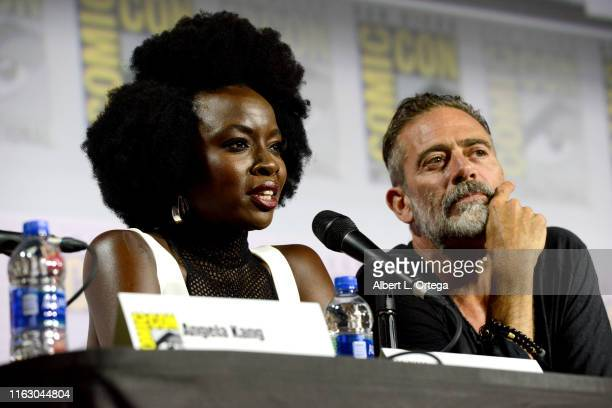 Danai Gurira and Jeffrey Dean Morgan speak at The Walking Dead Panel during 2019 ComicCon International at San Diego Convention Center on July 19...