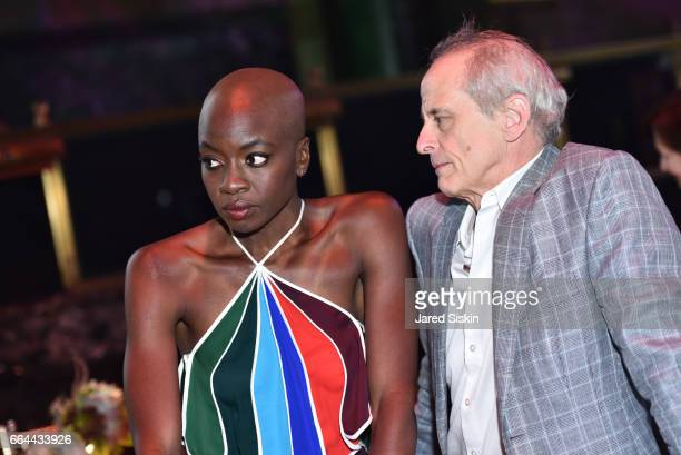 Danai Gurira and Jim Calder attend the Tisch School Gala 2017 at Cipriani 42nd Street on April 3 2017 in New York City