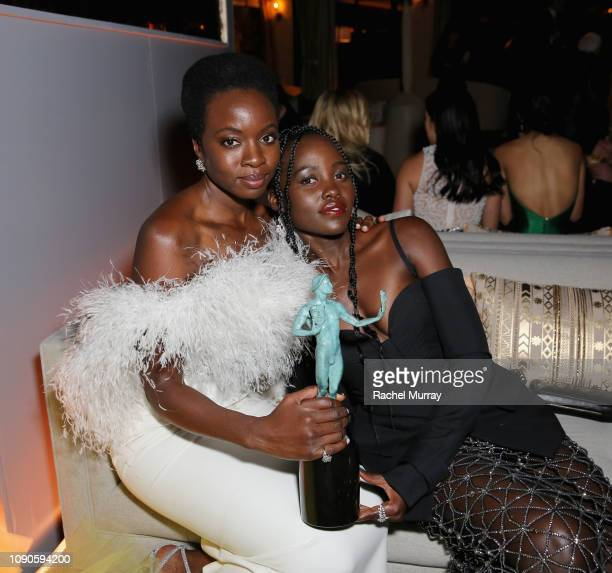 Danai Gurira and Lupita Nyong'o attend Netflix 2019 SAG Awards after party at Sunset Tower Hotel on January 27 2019 in West Hollywood California