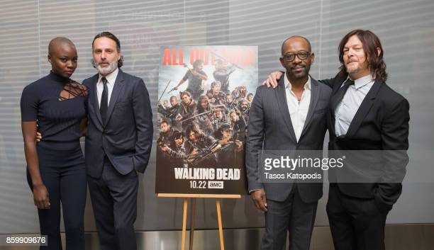 Danai Gurira Andrew Lincoln Lennie James and Norman Reedus of The Walking Dead attend The Walking Dead event at Smithsonian National Museum Of...