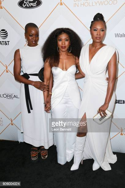 Danai Gurira Angela Bassett and Sydelle Noel attend the 2018 Essence Black Women In Hollywood Oscars Luncheon at Regent Beverly Wilshire Hotel on...