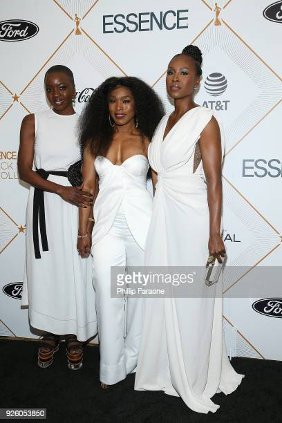 Danai Gurira Angela Bassett and Sydelle Noel attend the Essence 11th Annual Black Women In Hollywood Awards Gala at the Beverly Wilshire Four Seasons...
