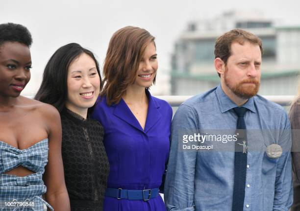 Danai Gurira Angela Kang Lauren Cohan and Scott M Gimple attend 'The Walking Dead' Photo Call during ComicCon International 2018 at Andaz San Diego...