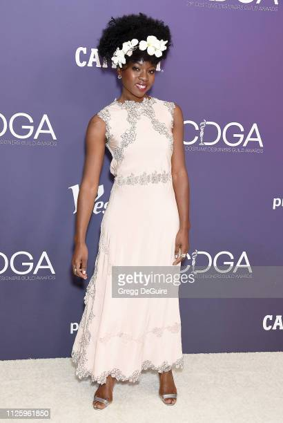 Danai Gurira arrives at the 21st CDGA at The Beverly Hilton Hotel on February 19 2019 in Beverly Hills California
