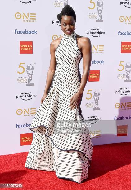 Danai Gurira arrives at the 50th NAACP Image Awards at Dolby Theatre on March 30 2019 in Hollywood California