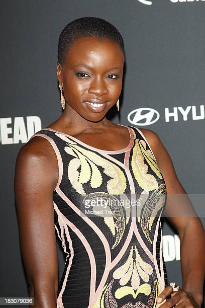 Danai Gurira arrives at the Los Angeles premiere of AMC's The Walking Dead 4th season held at Universal CityWalk on October 3 2013 in Universal City...