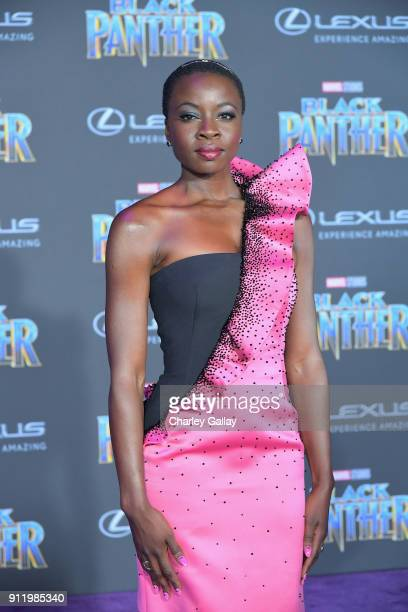 Danai Gurira arrives for the World Premiere of Marvel Studios' Black Panther presented by Lexus at Dolby Theatre in Hollywood on January 29th