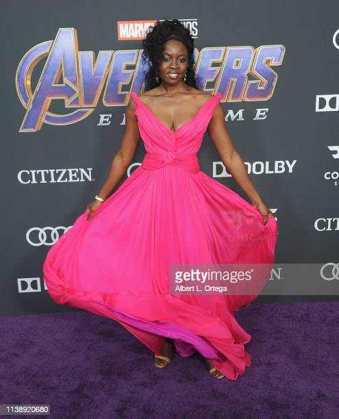 Danai Gurira arrives for the World Premiere Of Walt Disney Studios Motion Pictures Avengers Endgame held at Los Angeles Convention Center on April 22...