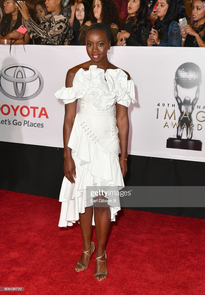 Danai Gurira at the 49th NAACP Image Awards on January 15, 2018 in Pasadena, California.