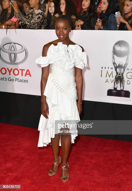 Danai Gurira at the 49th NAACP Image Awards on January 15 2018 in Pasadena California