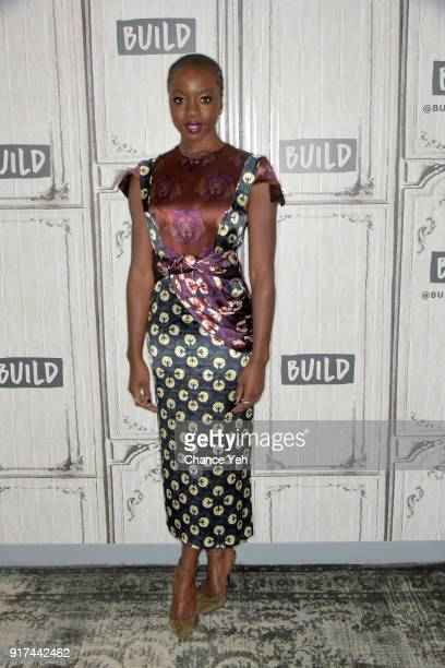 Danai Gurira attends Build series to discuss Black Panther at Build Studio on February 12 2018 in New York City