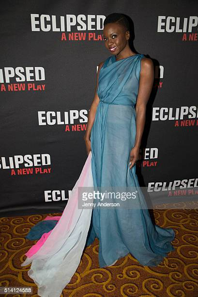 Danai Gurira attends Eclipsed Broadway opening night party at Gotham Hall on March 6 2016 in New York City