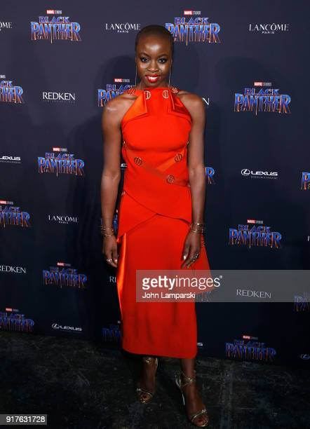 Danai Gurira attends Marvel Studios Presents Black Panther Welcome To Wakanda during February 2018 New York Fashion Week The Shows at Industria...