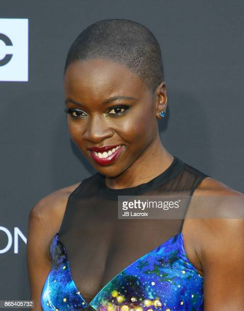 Danai Gurira attends the 100th episode celebration off 'The Walking Dead' at The Greek Theatre on October 22 2017 in Los Angeles California