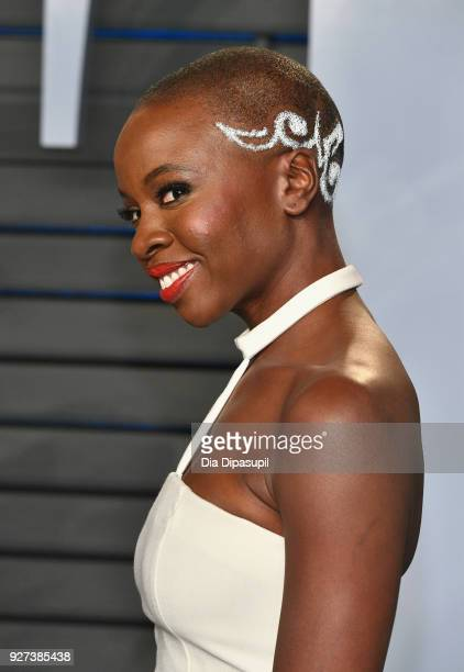Danai Gurira attends the 2018 Vanity Fair Oscar Party hosted by Radhika Jones at Wallis Annenberg Center for the Performing Arts on March 4 2018 in...