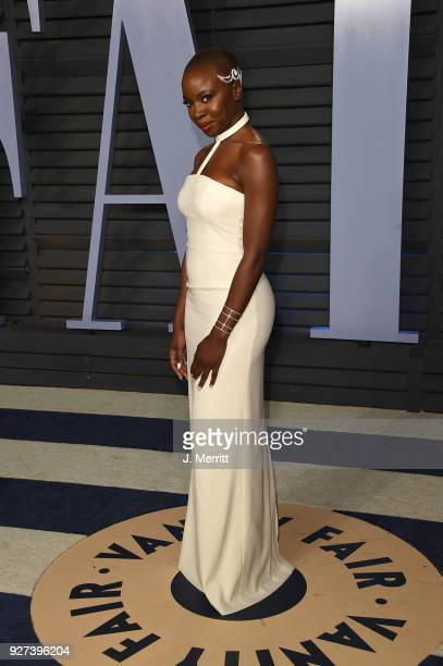 Danai Gurira attends the 2018 Vanity Fair Oscar Party hosted by Radhika Jones at the Wallis Annenberg Center for the Performing Arts on March 4 2018...