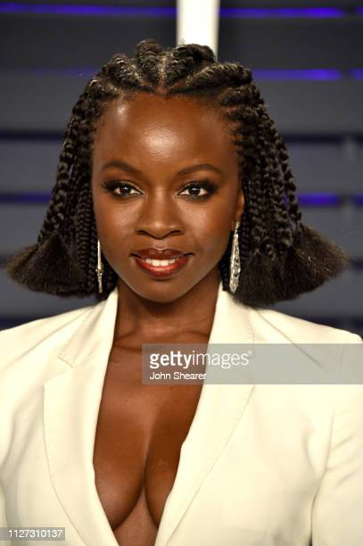 Danai Gurira attends the 2019 Vanity Fair Oscar Party hosted by Radhika Jones at Wallis Annenberg Center for the Performing Arts on February 24 2019...
