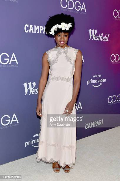 Danai Gurira attends The 21st CDGA at The Beverly Hilton Hotel on February 19 2019 in Beverly Hills California