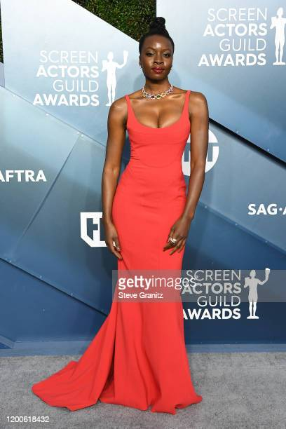 Danai Gurira attends the 26th Annual Screen Actors Guild Awards at The Shrine Auditorium on January 19 2020 in Los Angeles California
