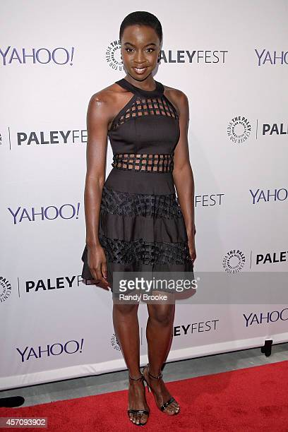 Danai Gurira attends the 2nd Annual Paleyfest New York Presents 'The Walking Dead' at Paley Center For Media on October 11 2014 in New York New York