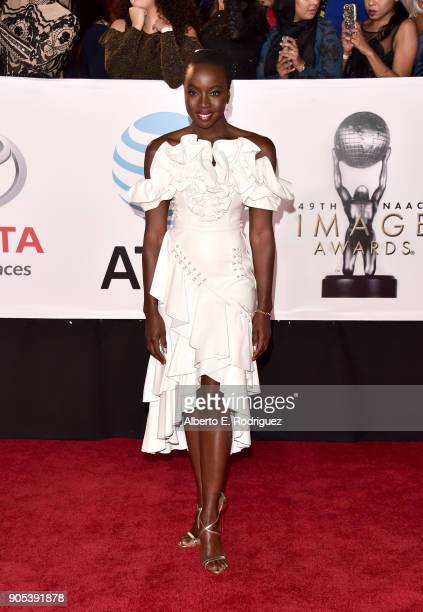 Danai Gurira attends the 49th NAACP Image Awards at Pasadena Civic Auditorium on January 15 2018 in Pasadena California