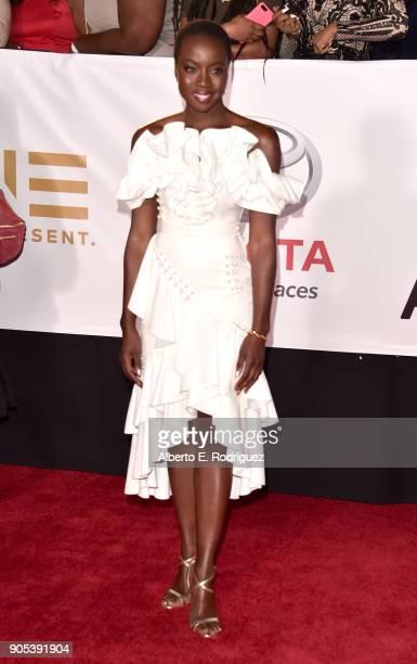 Danai Gurira attends the 49th NAACP Image Awards at Pasadena Civic Auditorium on January 15 2018 in Pasadena California