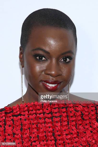 Danai Gurira attends the 4th Hollywood Beauty Awards at Avalon Hollywood on February 25 2018 in Los Angeles California